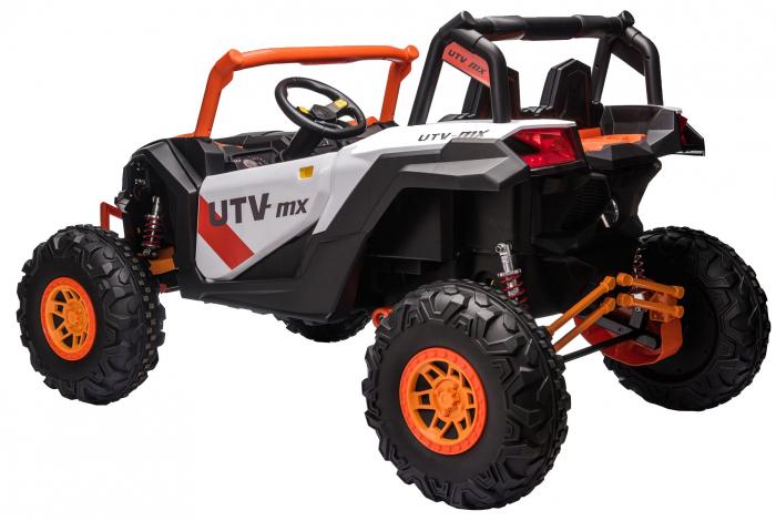 Masinuta electrica UTV Premier Dune, 24V, roti cauciuc EVA, 2 locuri, scaun piele ecologica, portocaliu [2]