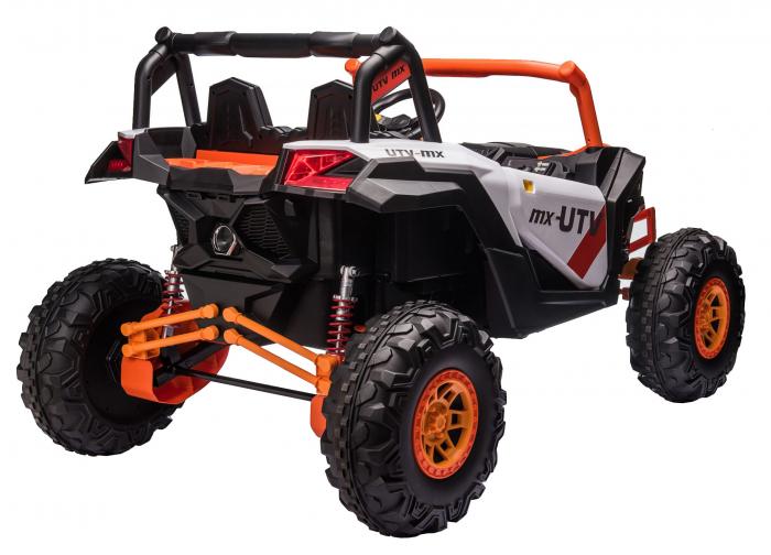 Masinuta electrica UTV Premier Dune, 24V, roti cauciuc EVA, 2 locuri, scaun piele ecologica, portocaliu [3]