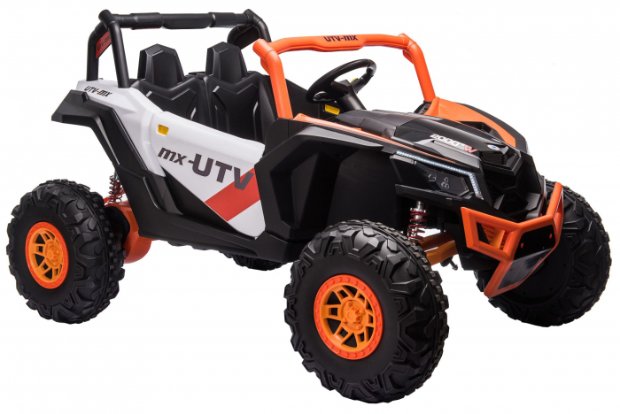 Masinuta electrica UTV Premier Dune, 24V, roti cauciuc EVA, 2 locuri, scaun piele ecologica, portocaliu [4]