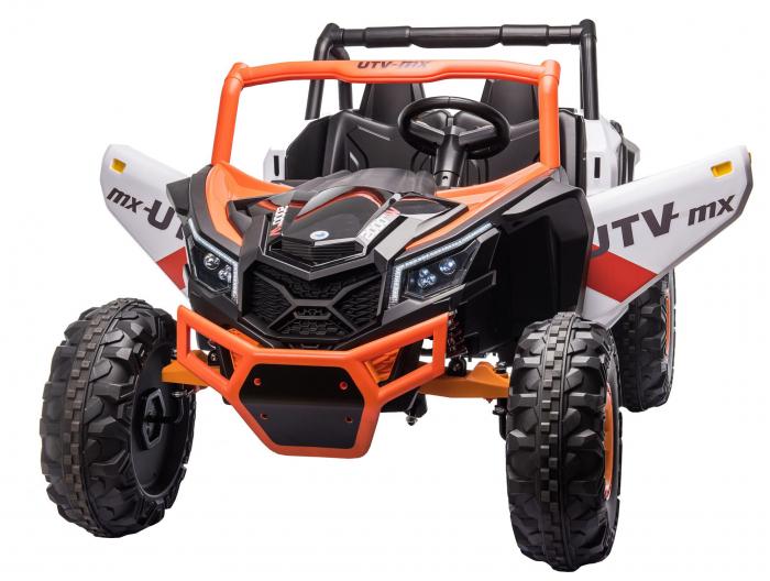 Masinuta electrica UTV Premier Dune, 24V, roti cauciuc EVA, 2 locuri, scaun piele ecologica, portocaliu [6]