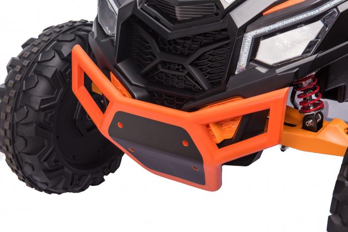 Masinuta electrica UTV Premier Dune, 24V, roti cauciuc EVA, 2 locuri, scaun piele ecologica, portocaliu [8]