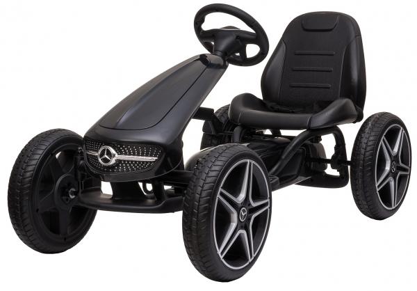 Kart Premier Mercedes cu pedale pentru copii, roti cauciuc Eva 0