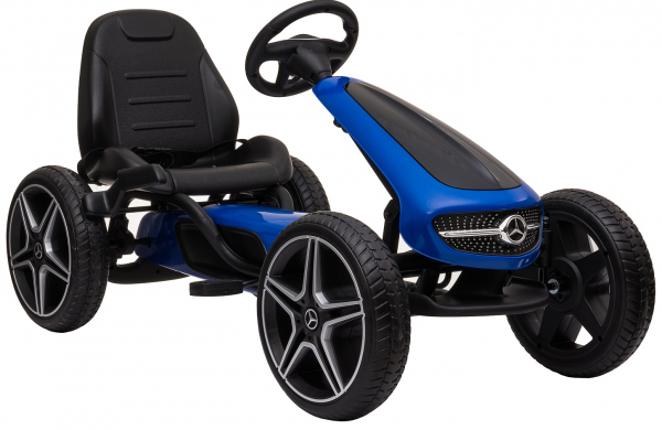 Kart Premier Mercedes cu pedale pentru copii, roti cauciuc Eva 4