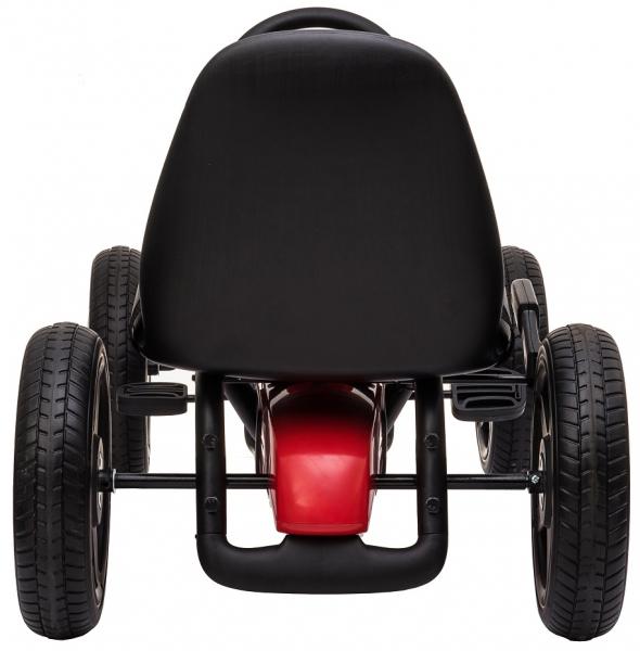 Kart Mercedes cu pedale pentru copii, roti cauciuc Eva, rosu [6]