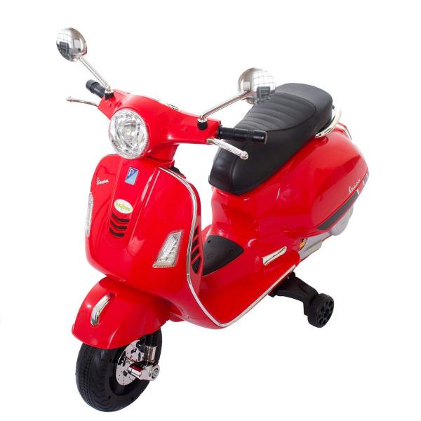 Scooter electric cu 2 roti Premier Vespa GTS Super, 12V, MP3, roti ajutatoare, rosu 6