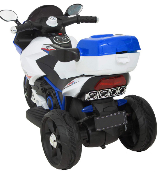 Motocicleta electrica cu 3 roti Premier HP2, 6V, 2 motoare, MP3, albastru 5