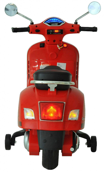 Scooter electric cu 2 roti Premier Vespa GTS Super, 12V, MP3, roti ajutatoare, rosu 2