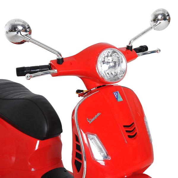Scooter electric cu 2 roti Premier Vespa GTS Super, 12V, MP3, roti ajutatoare, rosu 3