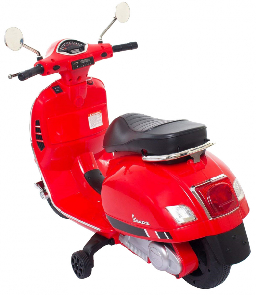 Scooter electric cu 2 roti Premier Vespa GTS Super, 12V, MP3, roti ajutatoare, rosu 4