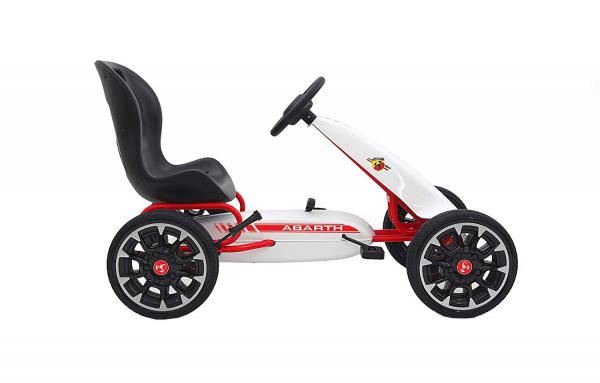 Kart Abarth cu pedale pentru copii, roti cauciuc Eva 1