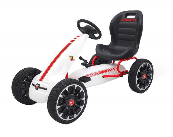 Kart Abarth cu pedale pentru copii, roti cauciuc Eva 0