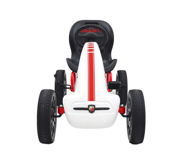 Kart Abarth alb cu pedale pentru copii 3