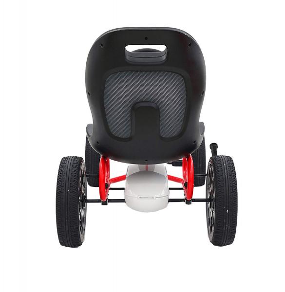 Kart Abarth cu pedale pentru copii, roti cauciuc Eva 4