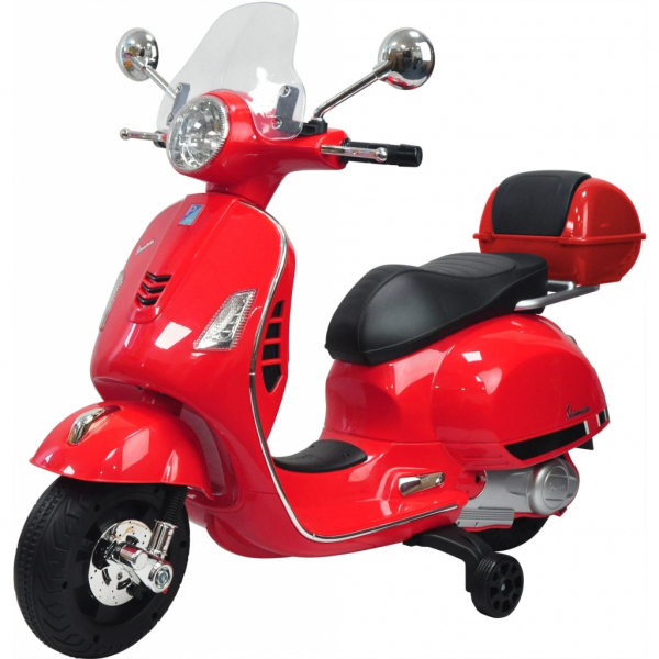 Scooter electric cu 2 roti Premier Vespa GTS Super, 12V, MP3, roti ajutatoare, rosu 0