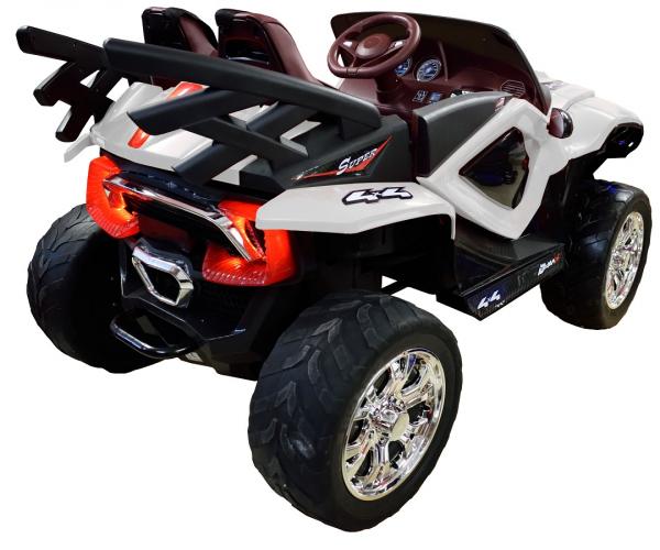Masinuta electrica 4x4 Premier D-Max, 12V, roti cauciuc EVA, scaun piele ecologica 4
