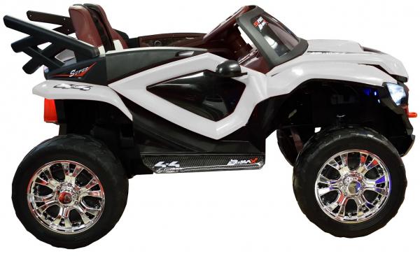 Masinuta electrica 4x4 Premier D-Max, 12V, roti cauciuc EVA, scaun piele ecologica 5