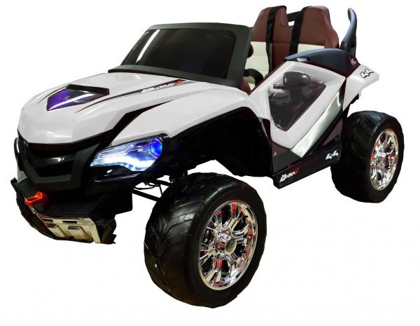 Masinuta electrica 4x4 Premier D-Max, 12V, roti cauciuc EVA, scaun piele ecologica 0