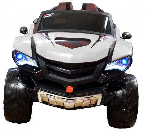 Masinuta electrica 4x4 Premier D-Max, 12V, roti cauciuc EVA, scaun piele ecologica 6