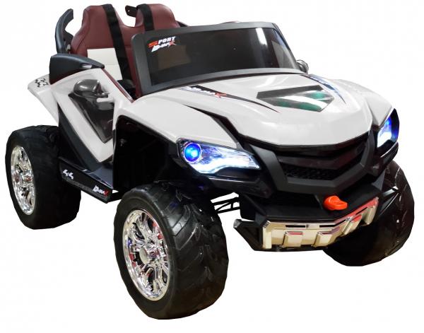 Masinuta electrica 4x4 Premier D-Max, 12V, roti cauciuc EVA, scaun piele ecologica 7