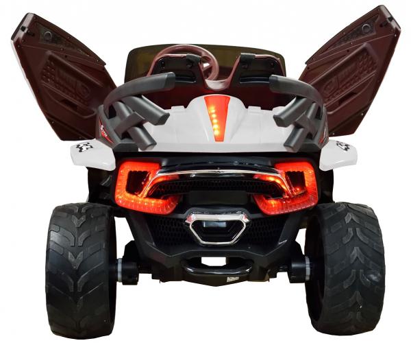 Masinuta electrica 4x4 Premier D-Max, 12V, roti cauciuc EVA, scaun piele ecologica 8