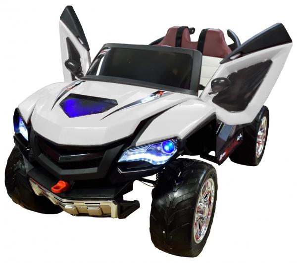 Masinuta electrica 4x4 Premier D-Max, 12V, roti cauciuc EVA, scaun piele ecologica 9