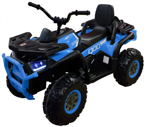 ATV electric 4x4 Premier Desert, 12V, roti cauciuc EVA, MP3, albastru 0