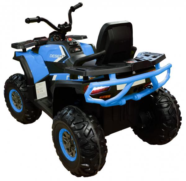 ATV electric 4x4 Premier Desert, 12V, roti cauciuc EVA, MP3, albastru 3