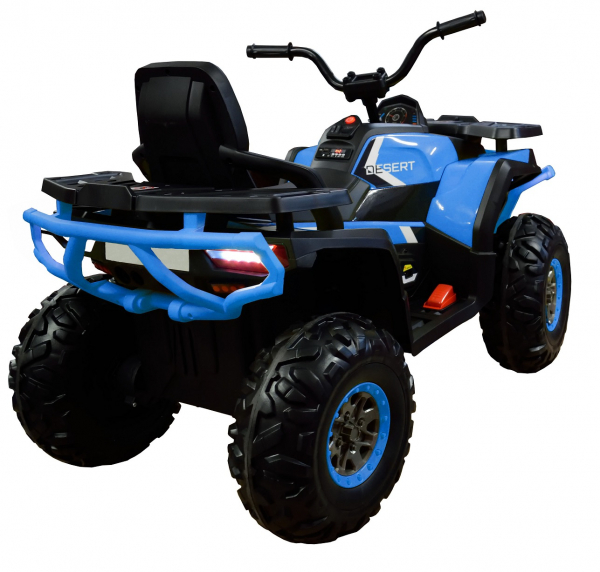 ATV electric 4x4 Premier Desert, 12V, roti cauciuc EVA, MP3, albastru 5