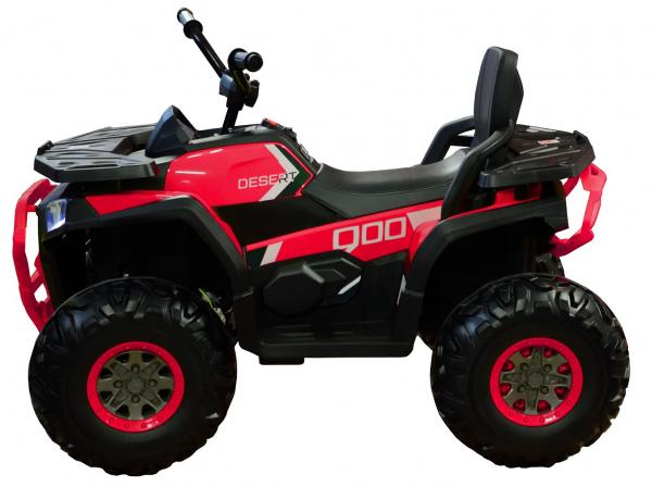 ATV electric 4x4 Premier Desert, 12V, roti cauciuc EVA, MP3, rosu [3]