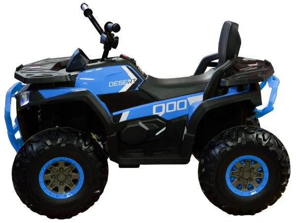 ATV electric 4x4 Premier Desert, 12V, roti cauciuc EVA, MP3, albastru 2