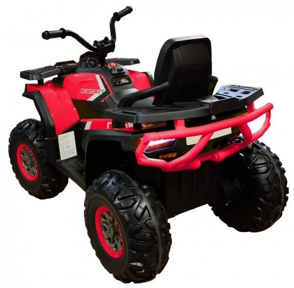 ATV electric 4x4 Premier Desert, 12V, roti cauciuc EVA, MP3, rosu [4]