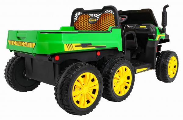 Buggy electric cu bena pentru 2 copii Premier 4x4 Hygge Truck, 6 roti cauciuc EVA, scaun piele ecologica, verde 11