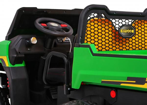Buggy electric cu bena pentru 2 copii Premier 4x4 Hygge Truck, 6 roti cauciuc EVA, scaun piele ecologica, verde 2