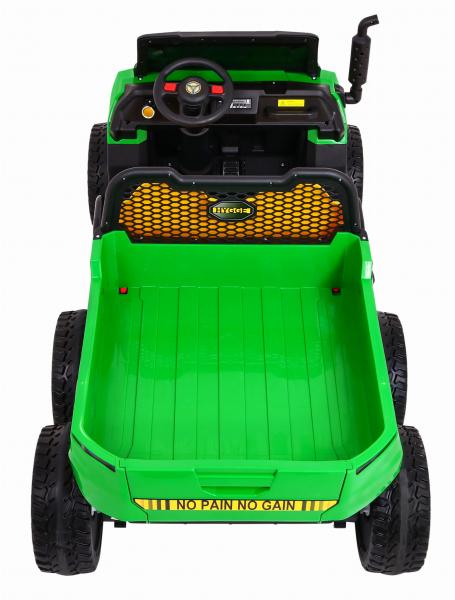 Buggy electric cu bena pentru 2 copii Premier 4x4 Hygge Truck, 6 roti cauciuc EVA, scaun piele ecologica, verde 13