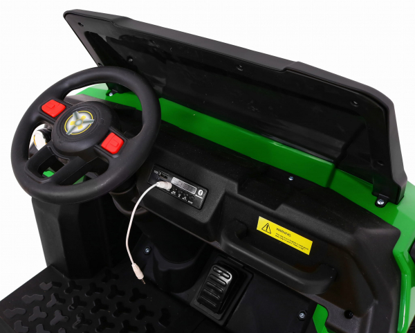 Buggy electric cu bena pentru 2 copii Premier 4x4 Hygge Truck, 6 roti cauciuc EVA, scaun piele ecologica, verde 12
