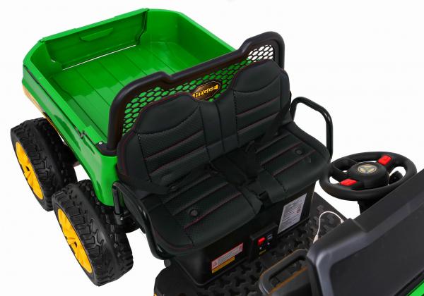 Buggy electric cu bena pentru 2 copii Premier 4x4 Hygge Truck, 6 roti cauciuc EVA, scaun piele ecologica, verde 10