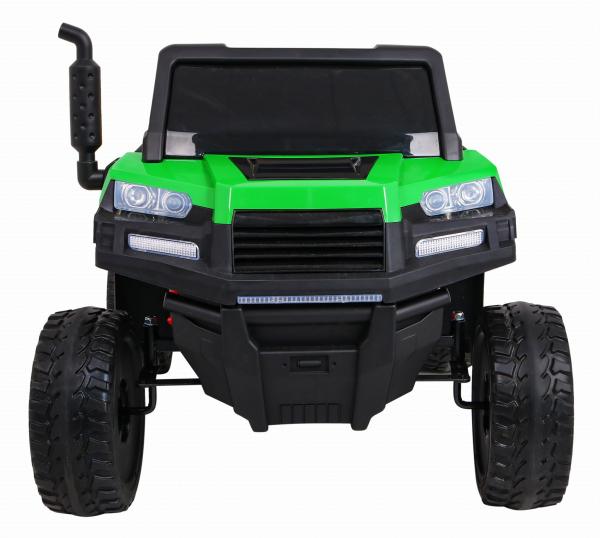 Buggy electric cu bena pentru 2 copii Premier 4x4 Hygge Truck, 6 roti cauciuc EVA, scaun piele ecologica, verde 8