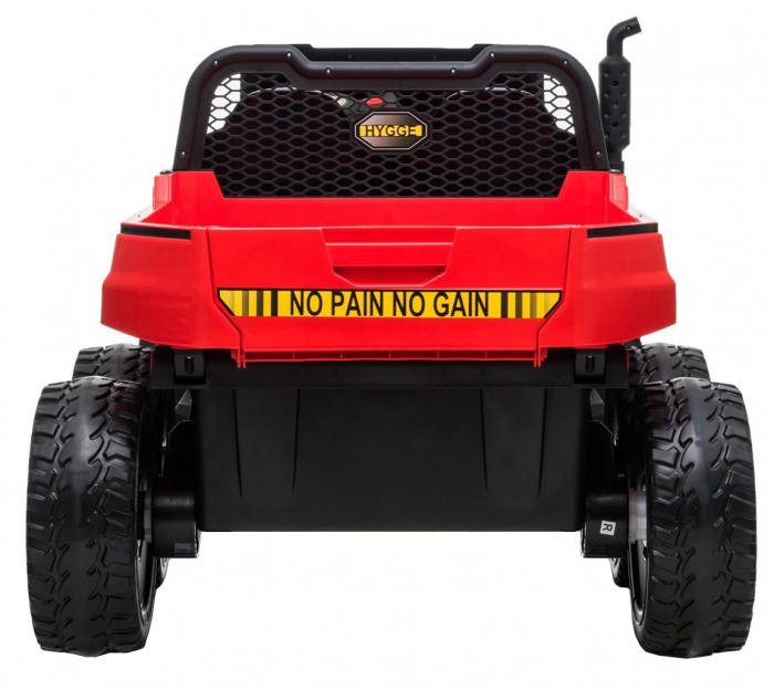 Buggy electric cu bena pentru 2 copii Premier 4x4 Hygge Truck, 6 roti cauciuc EVA, scaun piele ecologica, rosu 3