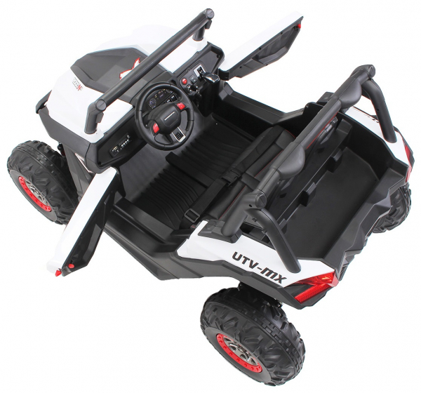 Buggy electric pentru 2 copii Premier 4x4 Superstar, cu 2 baterii, roti cauciuc EVA, scaun piele ecologica 24