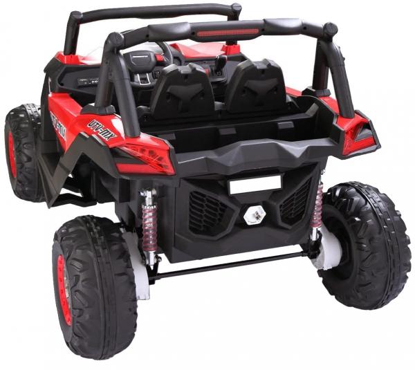 Buggy electric pentru 2 copii Premier 4x4 Superstar, cu 2 baterii, roti cauciuc EVA, scaun piele ecologica, rosu [2]