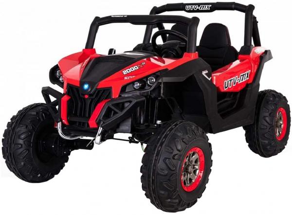 Buggy electric pentru 2 copii Premier 4x4 Superstar, cu 2 baterii, roti cauciuc EVA, scaun piele ecologica, rosu [0]