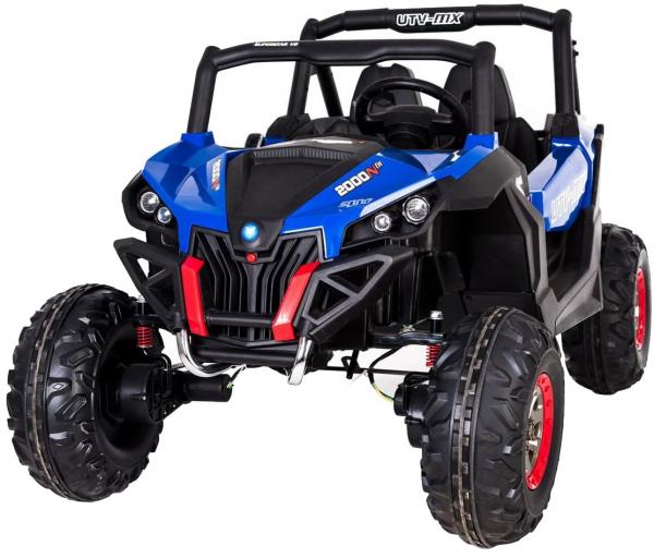 Buggy electric pentru 2 copii Premier 4x4 Superstar, cu 2 baterii, roti cauciuc EVA, scaun piele ecologica, albastru 0