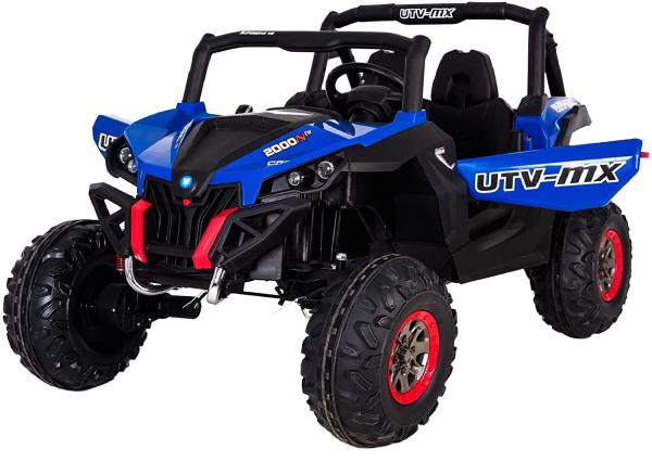 Buggy electric pentru 2 copii Premier 4x4 Superstar, cu 2 baterii, roti cauciuc EVA, scaun piele ecologica, albastru 5