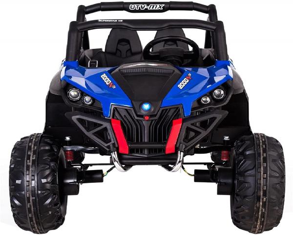 Buggy electric pentru 2 copii Premier 4x4 Superstar, cu 2 baterii, roti cauciuc EVA, scaun piele ecologica, albastru 4