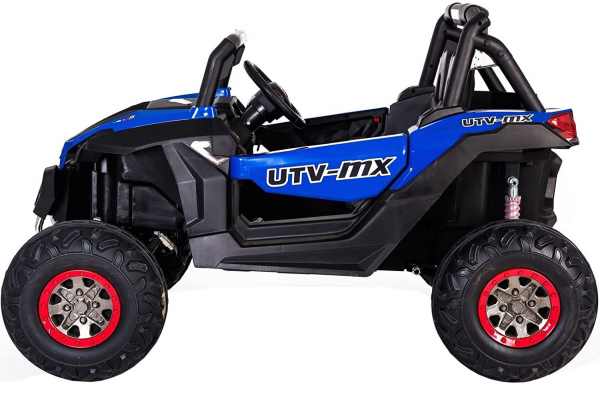 Buggy electric pentru 2 copii Premier 4x4 Superstar, cu 2 baterii, roti cauciuc EVA, scaun piele ecologica, albastru 1