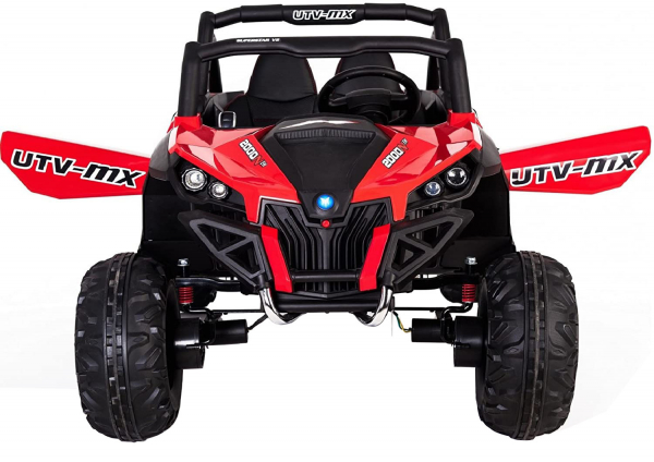 Buggy electric pentru 2 copii Premier 4x4 Superstar, cu 2 baterii, roti cauciuc EVA, scaun piele ecologica, rosu [3]
