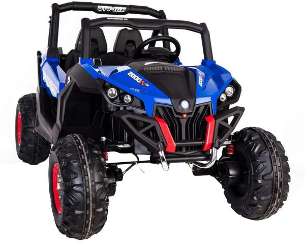 Buggy electric pentru 2 copii Premier 4x4 Superstar, cu 2 baterii, roti cauciuc EVA, scaun piele ecologica, albastru 2