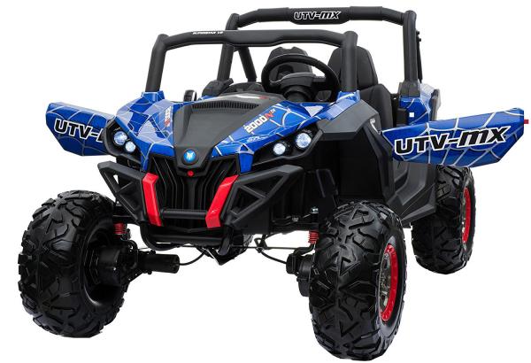 Buggy electric pentru 2 copii Premier 4x4 Superstar, MP4, cu 2 baterii, roti cauciuc EVA, scaun piele ecologica 14