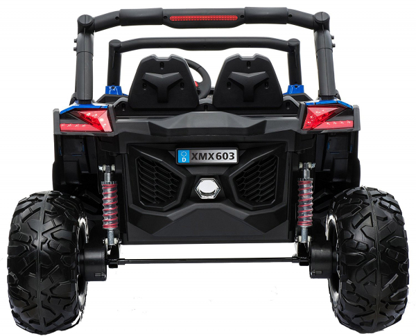 Buggy electric pentru 2 copii Premier 4x4 Superstar, MP4, cu 2 baterii, roti cauciuc EVA, scaun piele ecologica 24