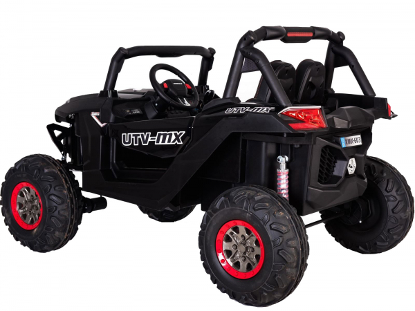 Buggy electric pentru 2 copii Premier 4x4 Superstar, MP4, cu 2 baterii, roti cauciuc EVA, scaun piele ecologica 30